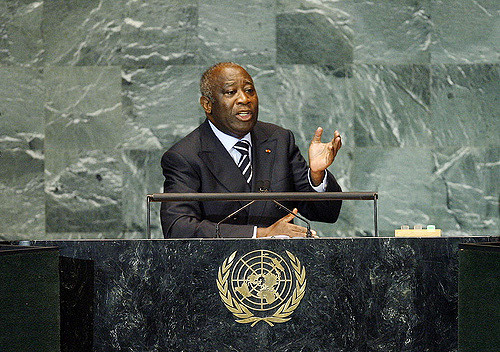 Laurent Gbagbo, President of Côte d'Ivoire, addresses the general debate of the sixty-fourth session of the General Assembly. 25/Sep/2009. United Nations, New York. UN Photo/Marco Castro. www.unmultimedia.org/photo/
